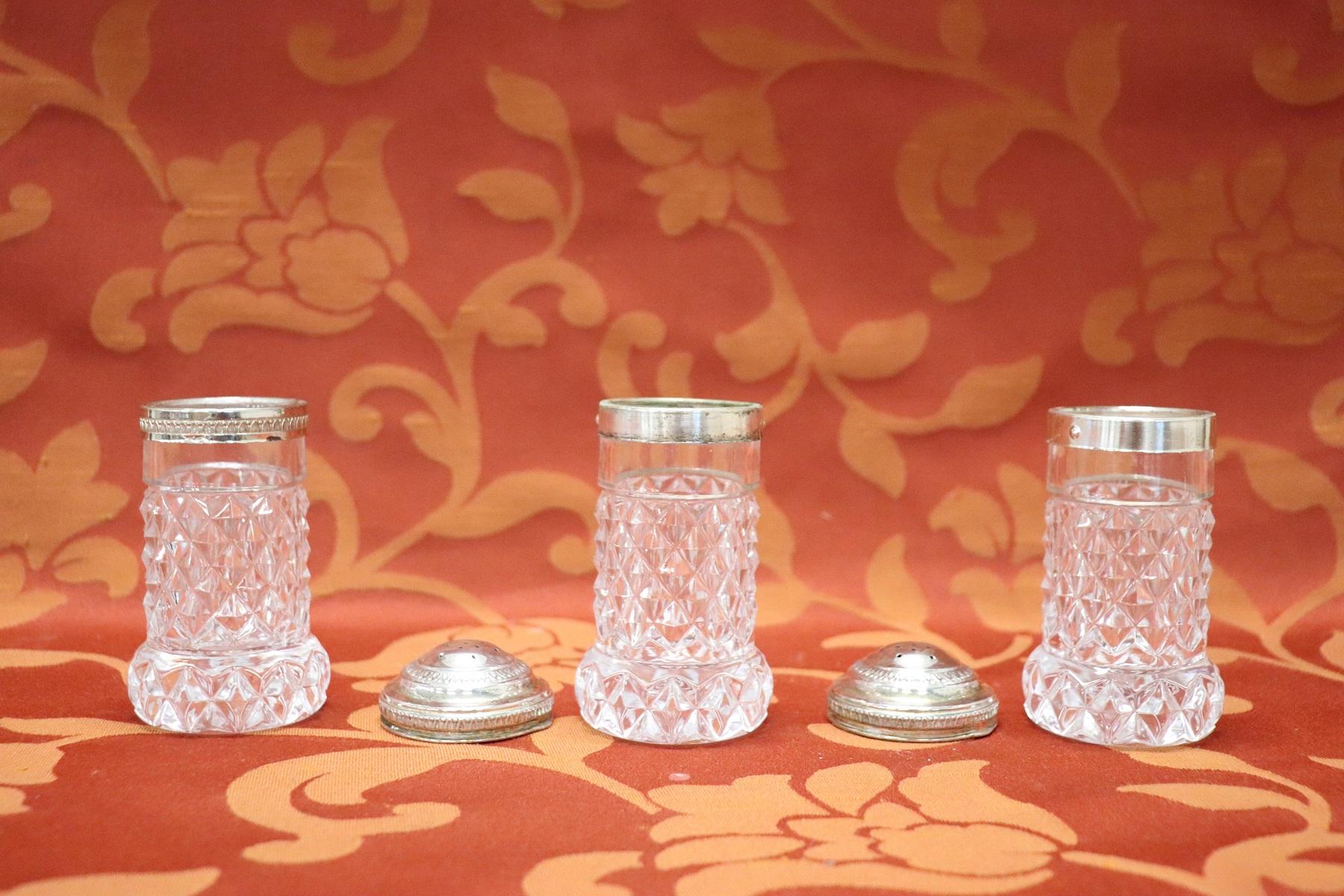 Mobili Anni 30 : Servizio di sale e pepe in cristallo anni pezzi mobili